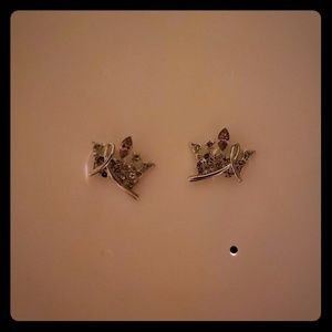 Queen's Crown Stud Earrings